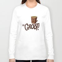 groot Long Sleeve T-shirts featuring It's Groot by Gimetzco's Damaged Goods
