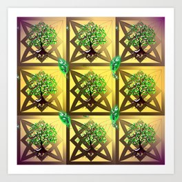 Celtic Tree Pattern Art Print