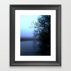 By the lake. Framed Art Print