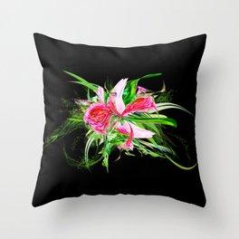Pastells black by Mia Niemi Throw Pillow