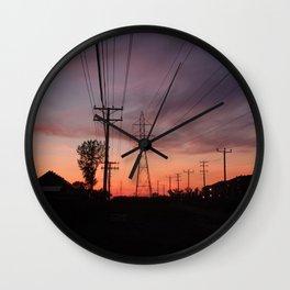 Lavallois Sunset - I Wall Clock