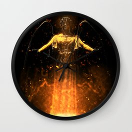 Rise From the Flames Wall Clock