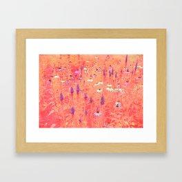 acoustic flower Framed Art Print