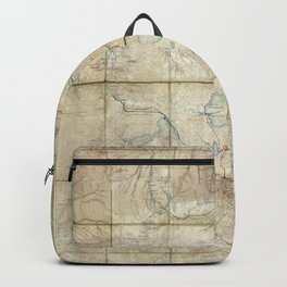 Map of Yellowstone National Park (1886) Backpack