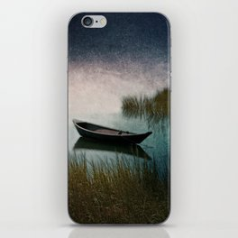 Midnight Paddle in Teal Indigo and Pink iPhone Skin