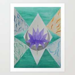 The 4 Elements Art Print