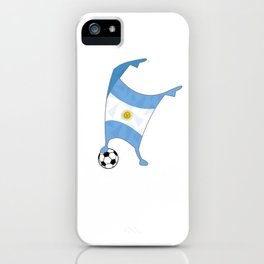 Argentina Flag Football Cup Soccer 2018 Dabbing World iPhone Case