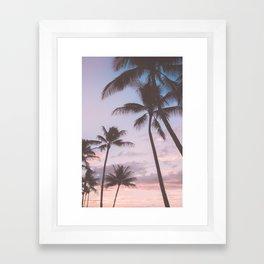 Pastel Palm Trees Framed Art Print