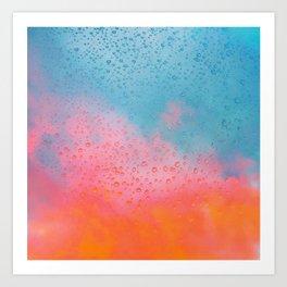 Cotton Candy Cloud Drips Art Print