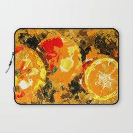 Juicy Golden Orange Acrylic Painting Laptop Sleeve