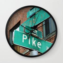 a certain corner Wall Clock