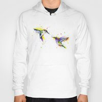 hummingbird Hoodies featuring Hummingbird  by Slaveika Aladjova