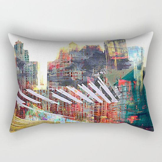 City landscape Rectangular Pillow