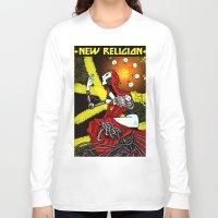 religion Long Sleeve T-shirts featuring new religion by amanda balboa