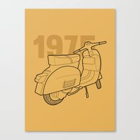 1975 Canvas Prints featuring Vespa Ts 1975 by usbe