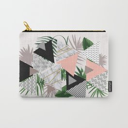 Abstract of geometric patterns with plants and marble Carry-All Pouch
