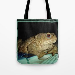 European Common Toad by Poolside At Night Tote Bag