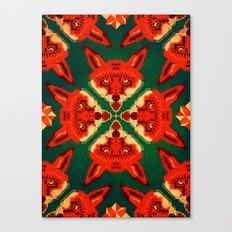 Fox Cross geometric pattern Canvas Print