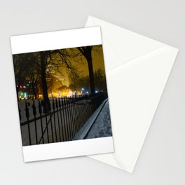 Snowstorm in Boston Common Stationery Cards