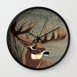 Buck with big racks  Wall Clock