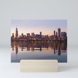 Panorama of the City skyline of Chicago Mini Art Print