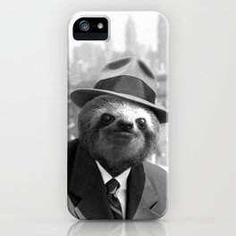 Sloth in New York iPhone Case