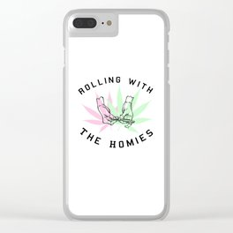 Rolling with the Homies Clear iPhone Case