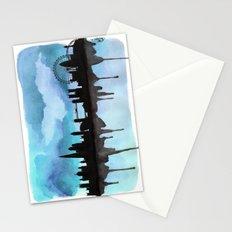 Turquoise London Skyline 2 Stationery Cards