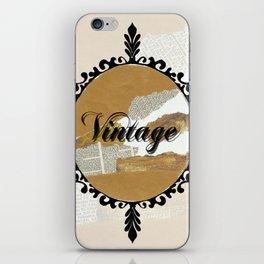 Vintage Collage Frame iPhone Skin