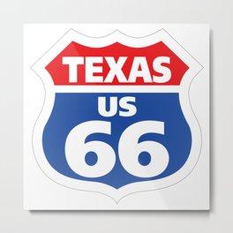Route66 Texas Metal Print