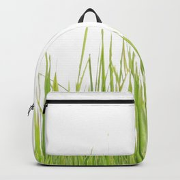 Green Grass Covering Backpack