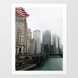 Riverwalk Chicago Art Print