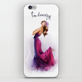 dancing ballerina1 iPhone Skin