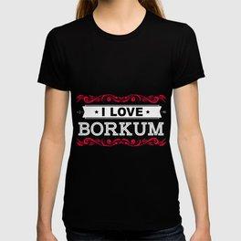 Borkum island love lower saxony North Sea T-shirt