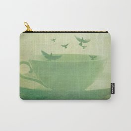 Morning Flight Coffee Tea Bird Flying Dream Surreal Home Kitchen Art Carry-All Pouch