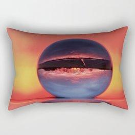 Winter morning in February Rectangular Pillow
