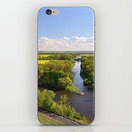 Czech sunny spring landscape iPhone Skin
