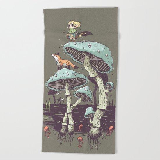 Elven Ranger Beach Towel