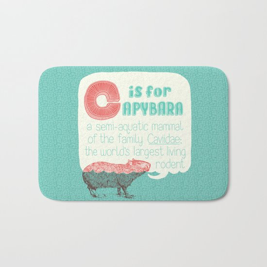 C is for Capybara Bath Mat