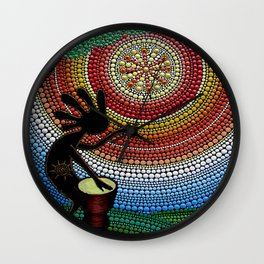 Kokopelli. God of fun and fertility Wall Clock