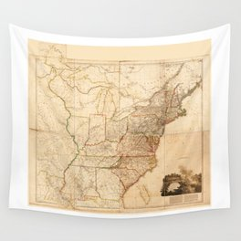 Map of the United States of North America (1819) Wall Tapestry