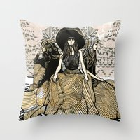 minions Throw Pillows featuring Moon Minions by Renee Staeck