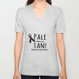 Pale is the New Tan Melanoma Awareness Unisex V-Neck