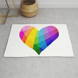 Rainbow Heart Rug