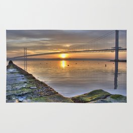 The Forth Road Bridge Sun Set Rug