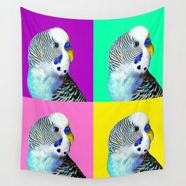 Blue Boy Budgie Bird Wall Tapestry