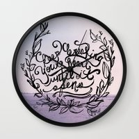 breaking Wall Clocks featuring Breaking by Jessee Fish