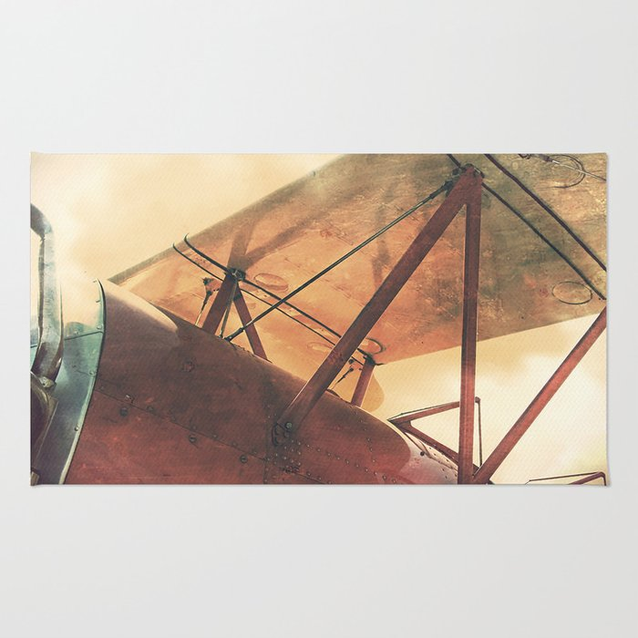 Take Flight // Antique Airplane Rug