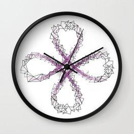 Antispin POI flower Wall Clock