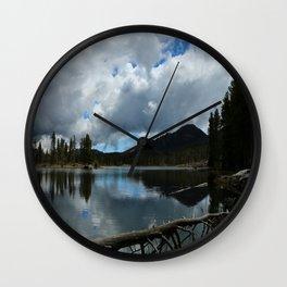 Sprague Lake Cloud Reflection Wall Clock